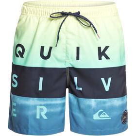 Quiksilver Word Block Volley 17 - Bañadores Hombre - azul/Turquesa
